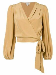 Temperley London Eden wrap blouse - Brown