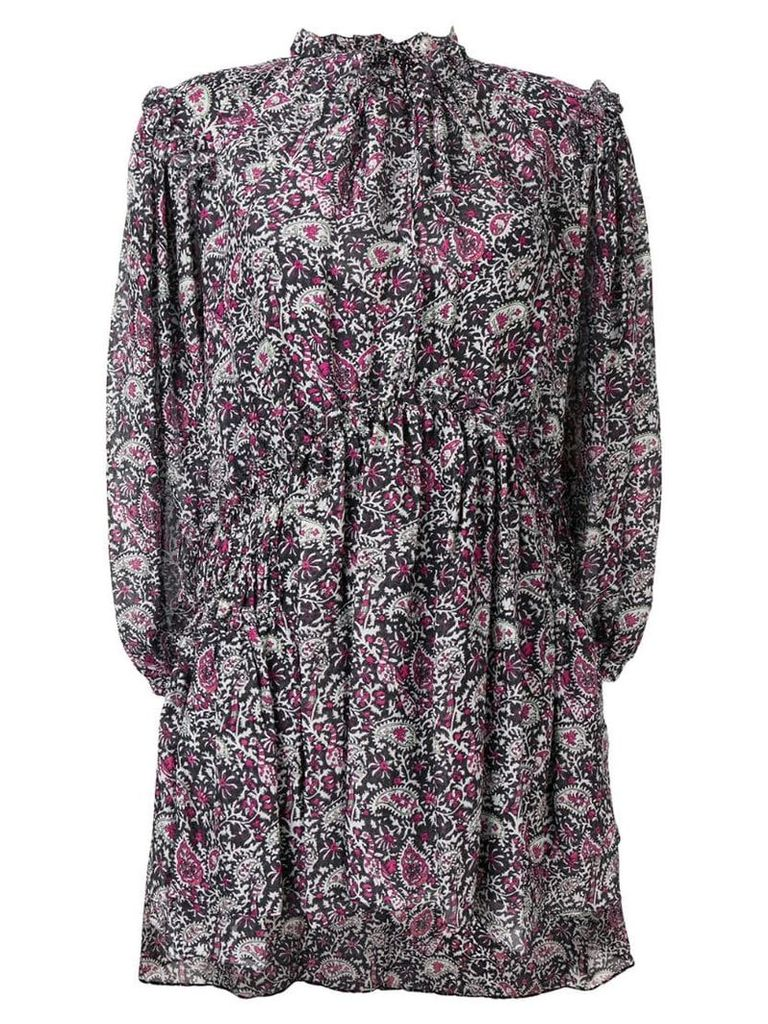 Isabel Marant paisley ruffle georgian dress - Black