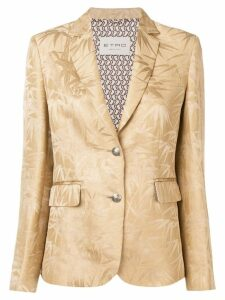 Etro palm leaves jacquard blazer - Neutrals