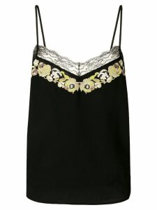 Etro lace trimmed cami top - Black