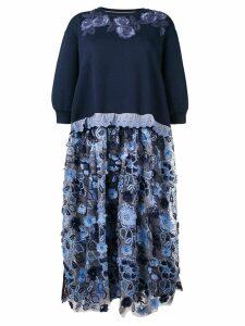 Antonio Marras flared midi dress - Blue