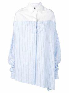 Unravel Project asymmetrical oversized shirt - Blue