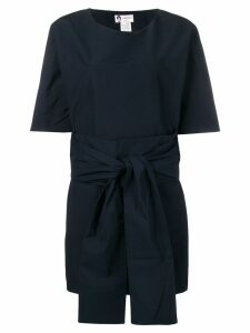 Lanvin belted detail short dress - Blue