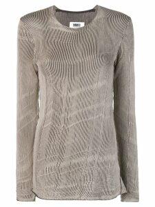 Mm6 Maison Margiela slim-fit sweater - Neutrals