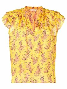 Ulla Johnson flutter sleeve blouse - Yellow