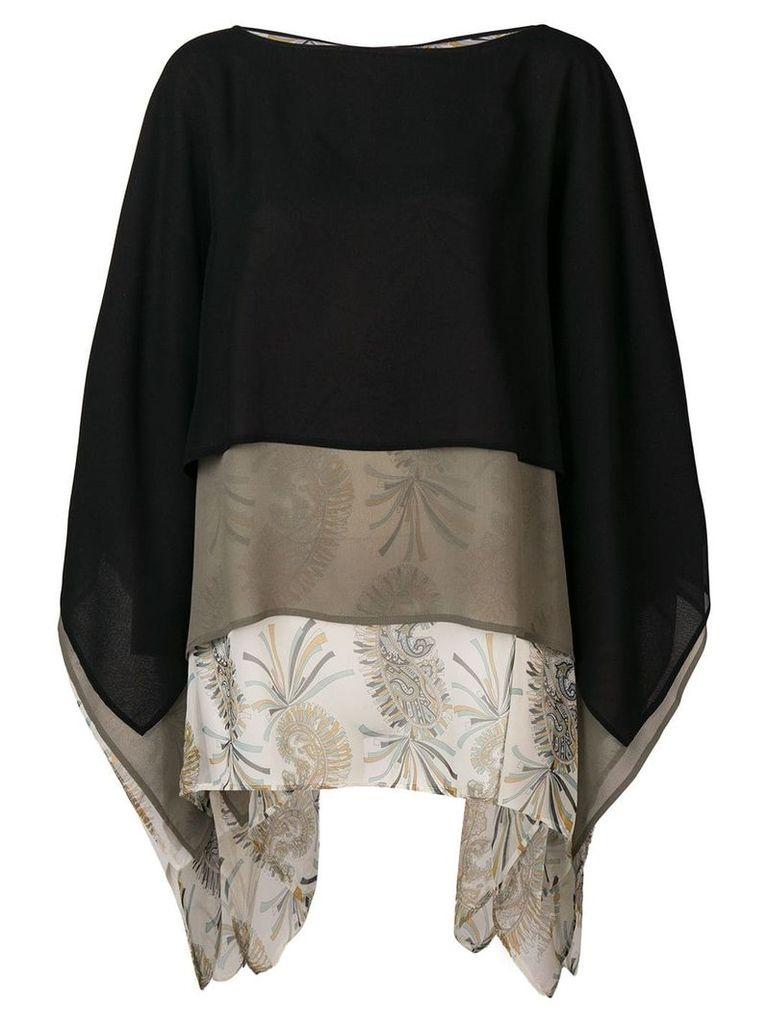 Etro colour-block blouse - Black