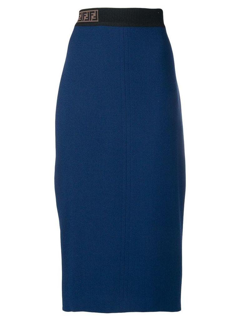 Fendi high waisted fitted skirt - Blue