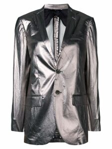R13 fitted blazer jacket - Grey