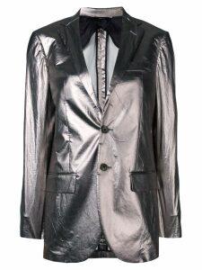 R13 fitted blazer jacket - Grey
