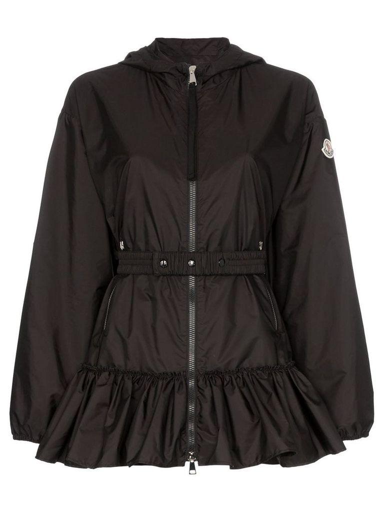 Moncler tbilisi frill hem hoodie jacket - Black