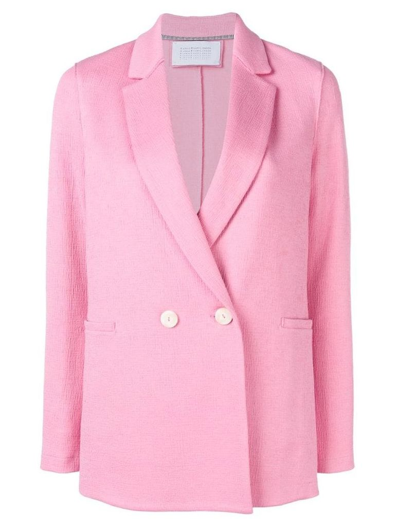 Harris Wharf London classic double-breasted blazer - Pink