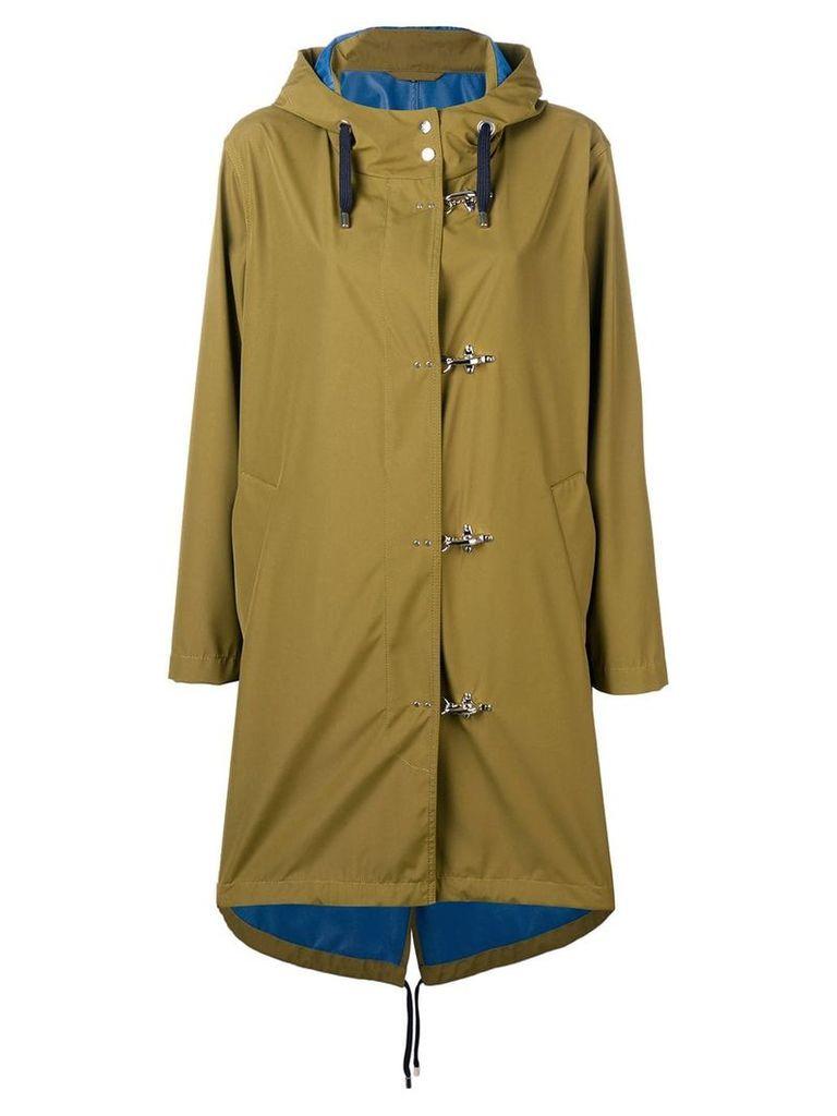 Fay hooded midi coat - Green