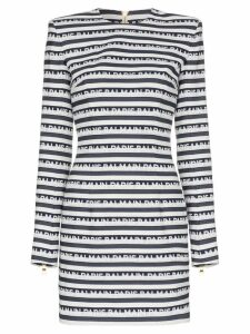 Balmain Logo Stripe Mini-Dress - Blue