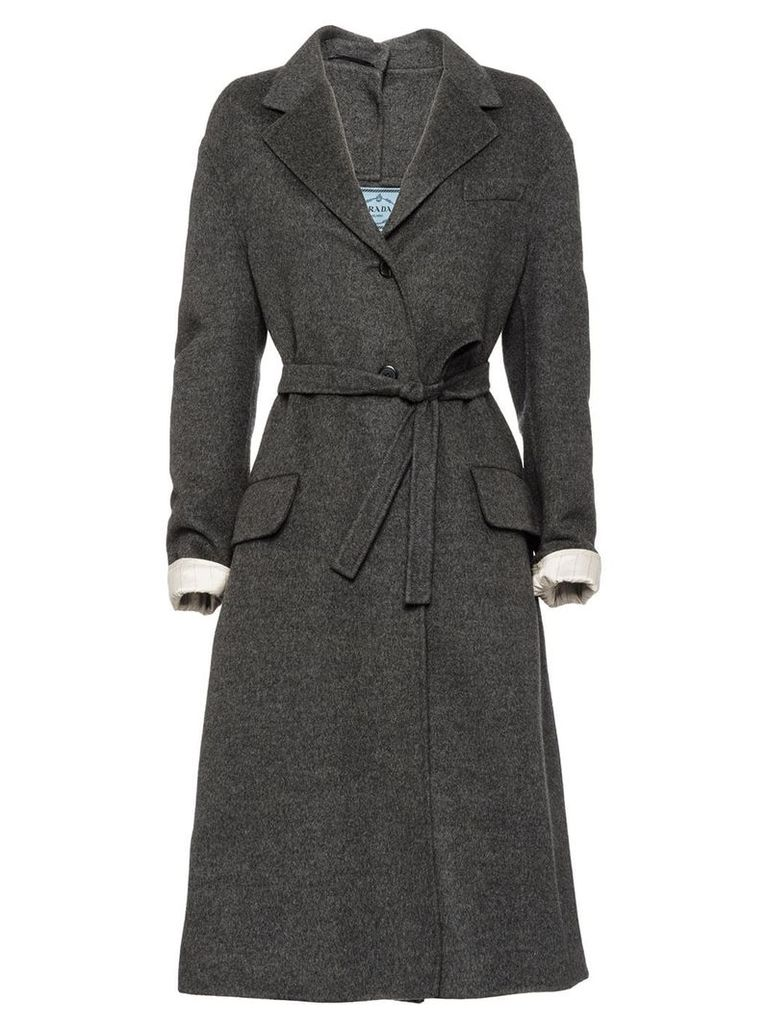 Prada Double cashgora coat - Grey