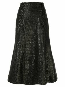 Olivier Theyskens metallic fishtail skirt - Black
