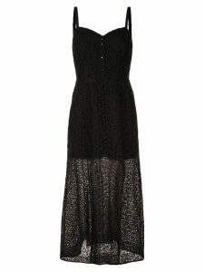 Olivier Theyskens lace maxi dress - Black