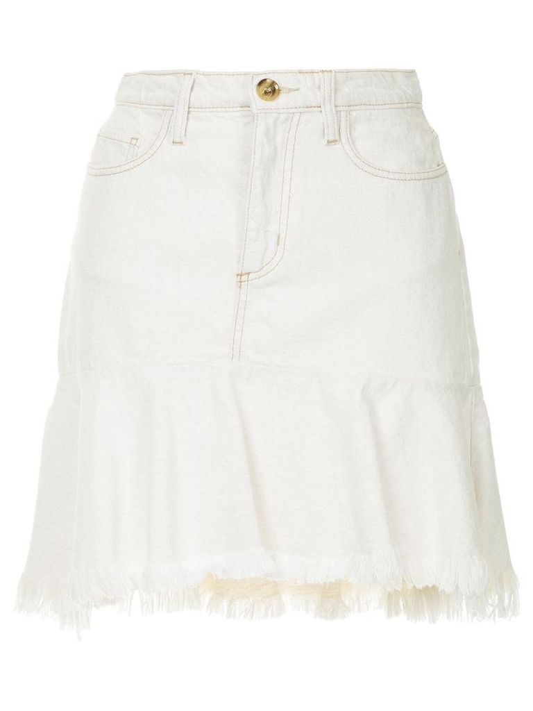 Nobody Denim Scultped skirt - White