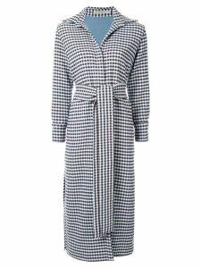 Silvia Tcherassi Cardota check trench coat - Blue