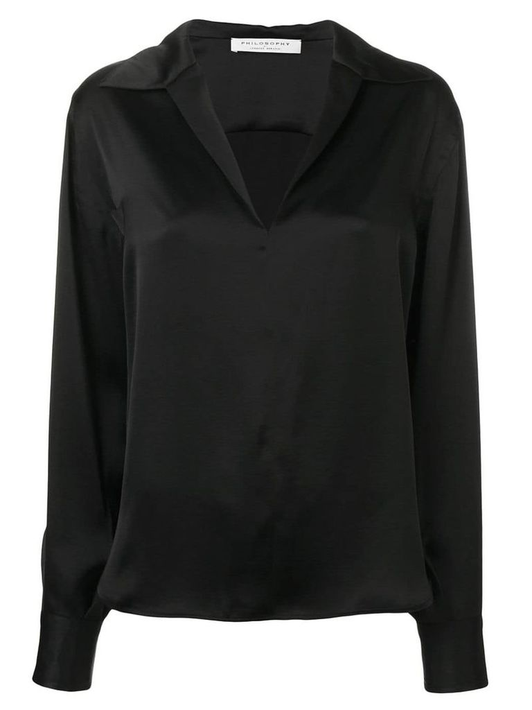 Philosophy Di Lorenzo Serafini open neck blouse - Black