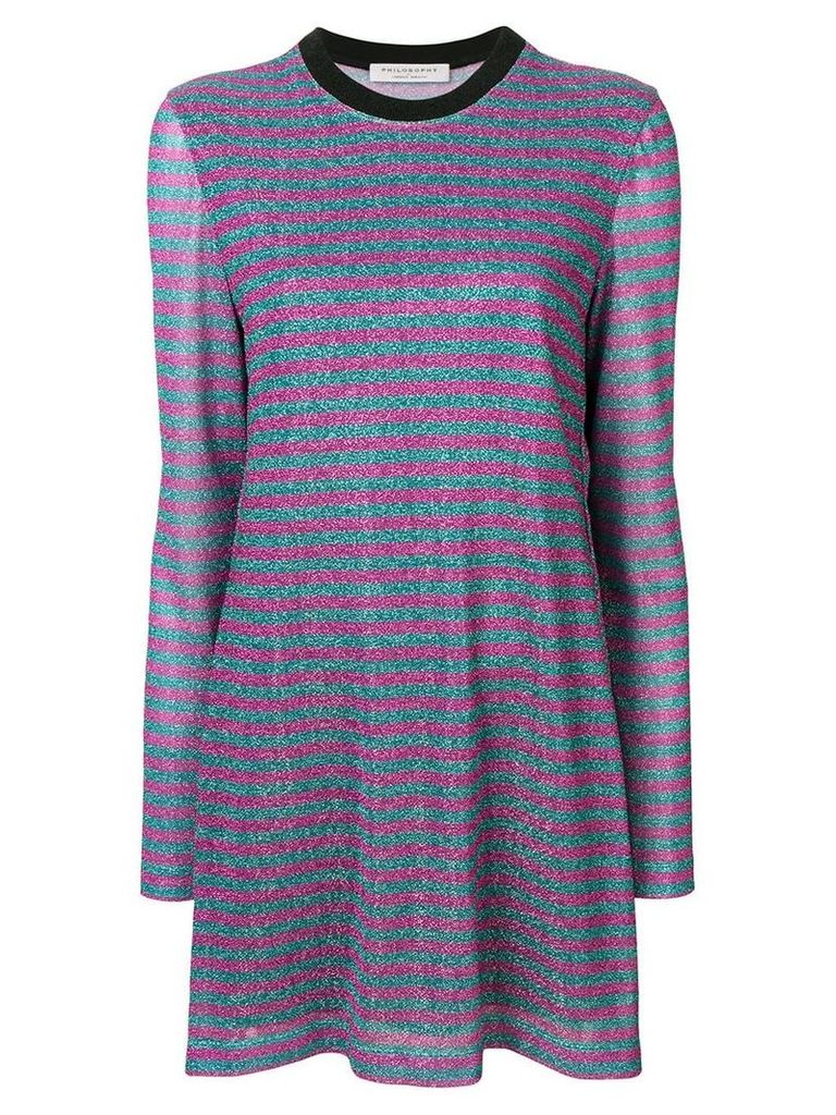 Philosophy Di Lorenzo Serafini striped jersey dress - Blue