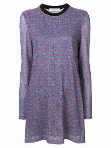 Philosophy Di Lorenzo Serafini striped jersey dress - Blue