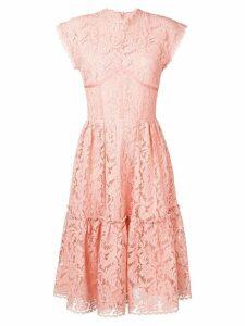 Sophia Kah lace flared dress - Pink