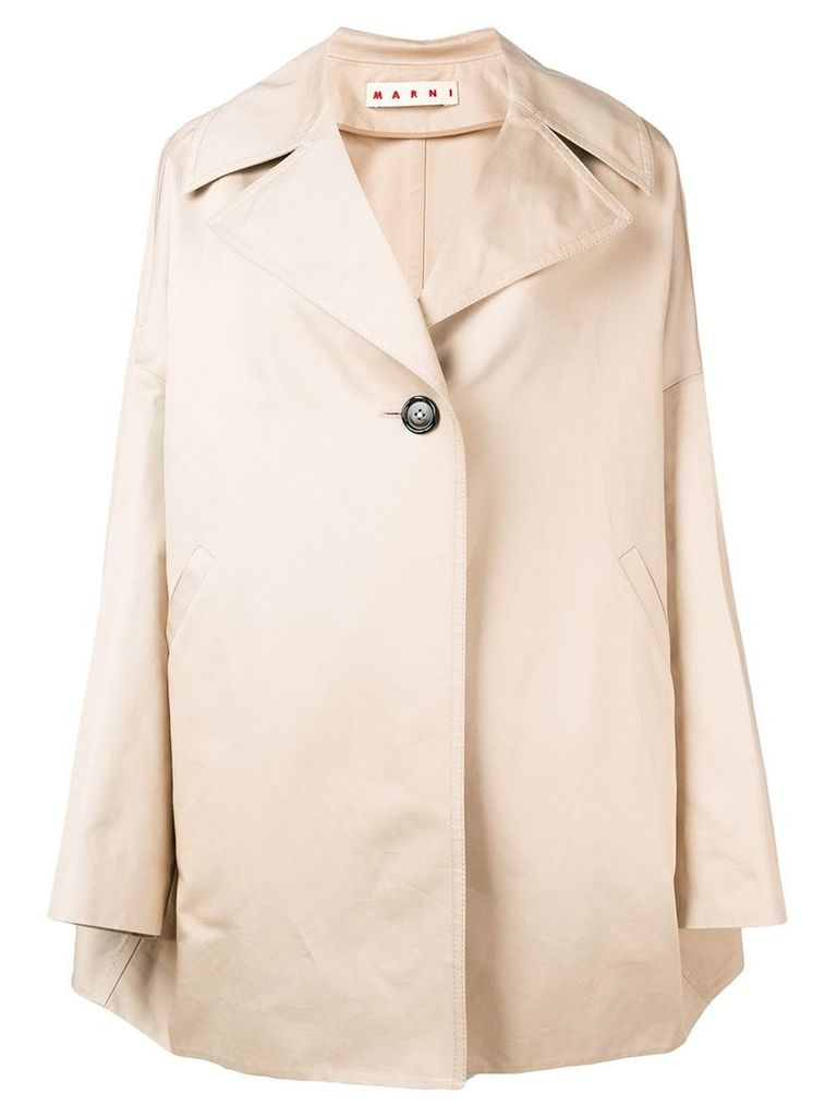 Marni oversized coat - Brown