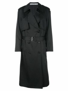 Alexander Wang monogram trench coat - Black