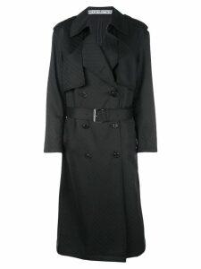 Alexander Wang monogram trench coat - Black