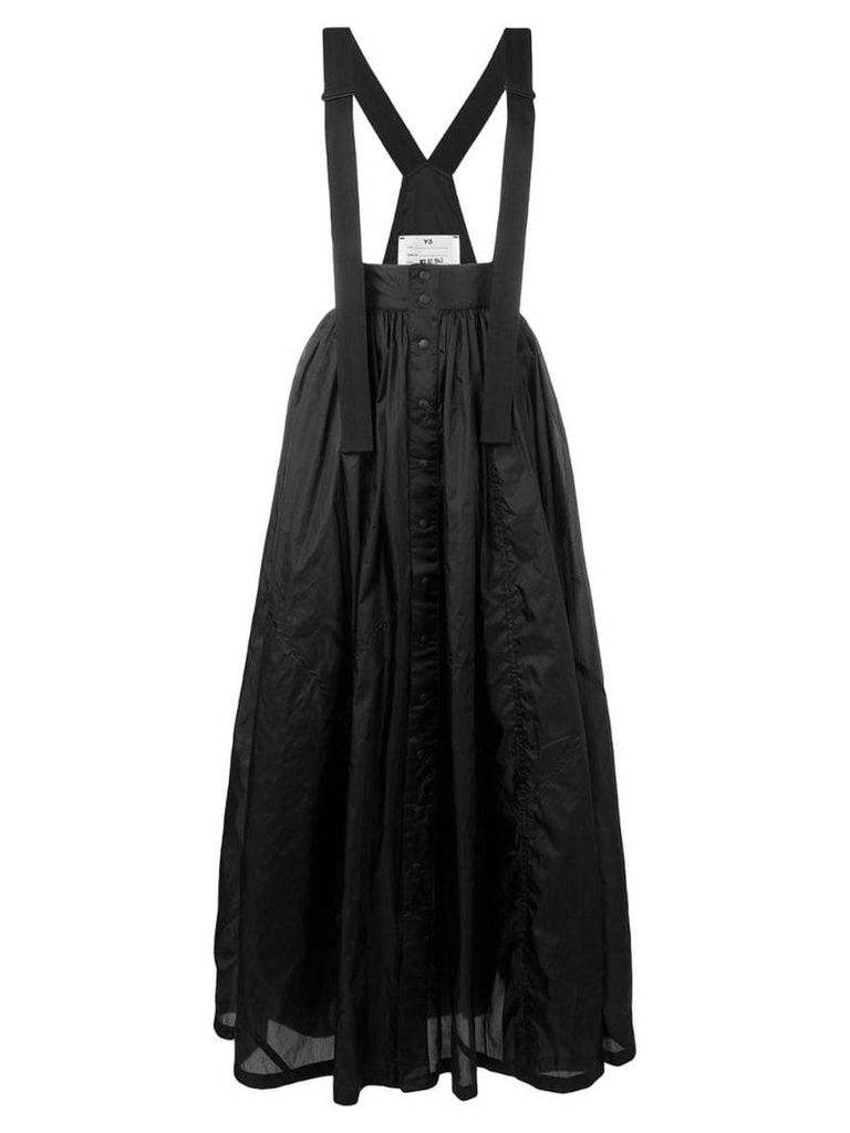 Y-3 long pleated skirt - Black