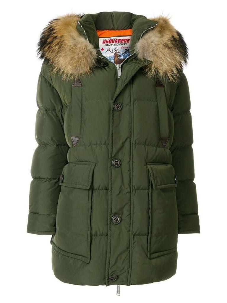 Dsquared2 fur trimmed parka - Green