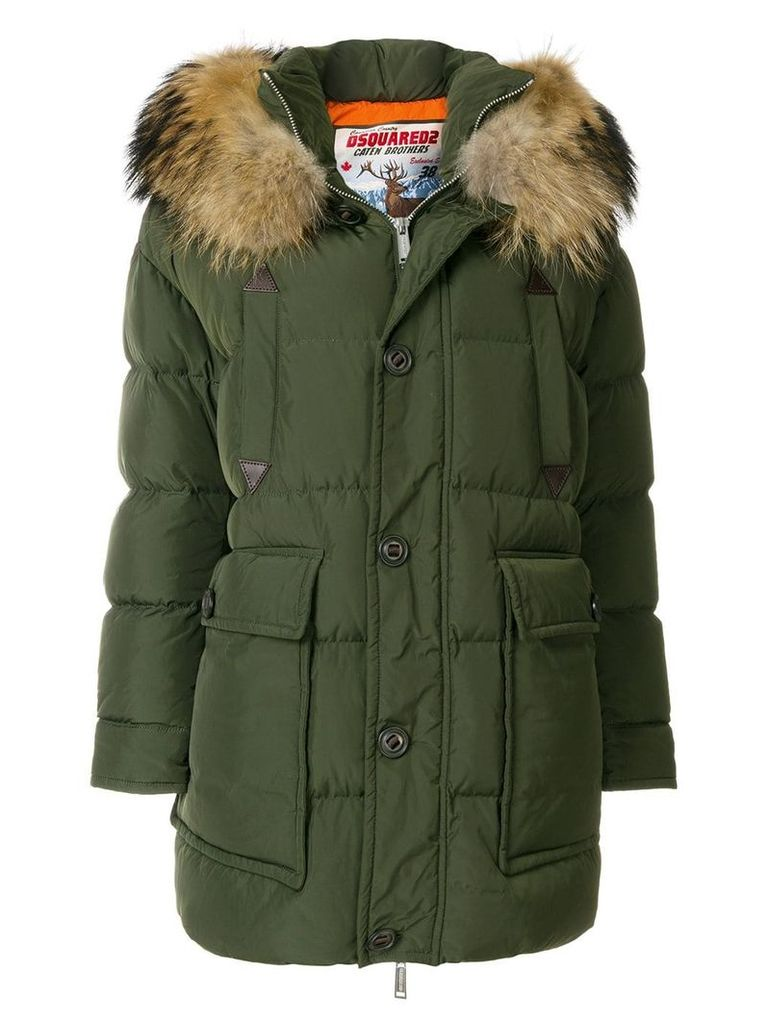 Dsquared2 fur trimmed parka - Green