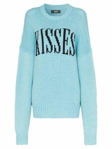 Amiri kisses oversized knited jumper - Blue