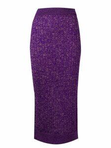 Mm6 Maison Margiela fitted midi skirt - Purple