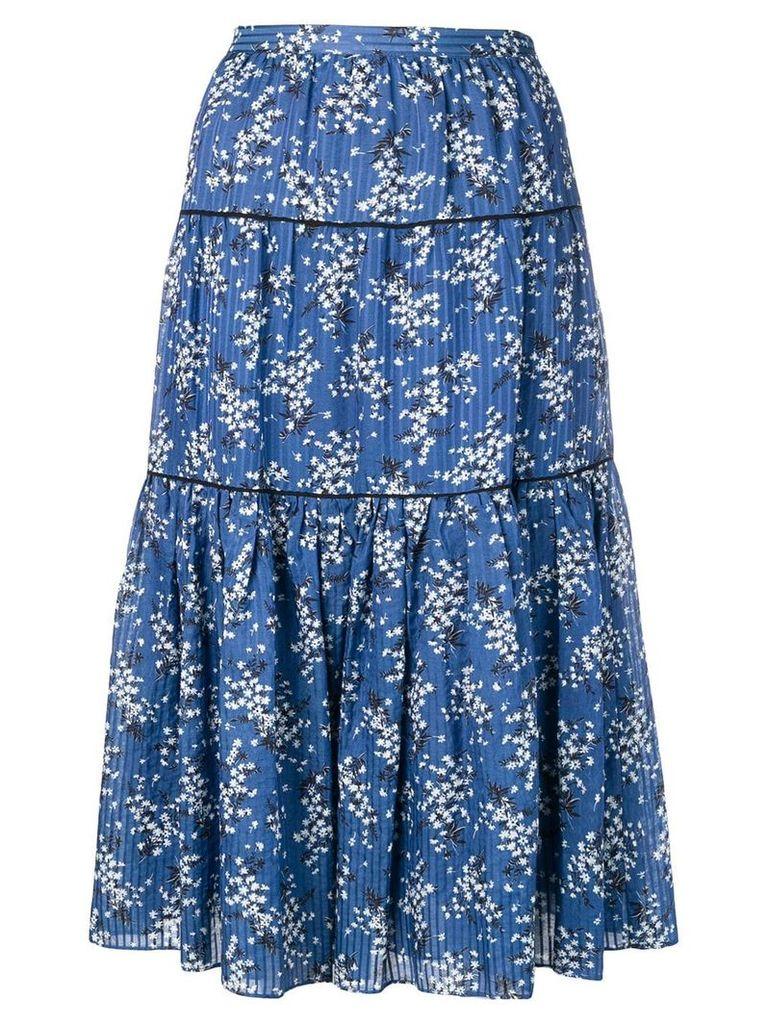 Ulla Johnson Auveline printed skirt - Blue