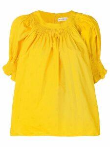 Ulla Johnson micro-pleated blouse - Yellow
