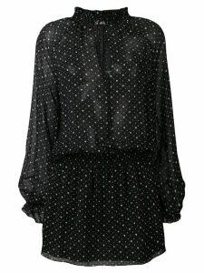 Saint Laurent hearts print Georgette dress - Black