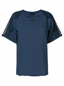 Twin-Set lace inserts top - Blue