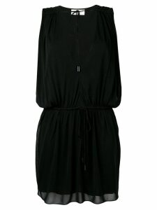 Saint Laurent deep V neck dress - Black