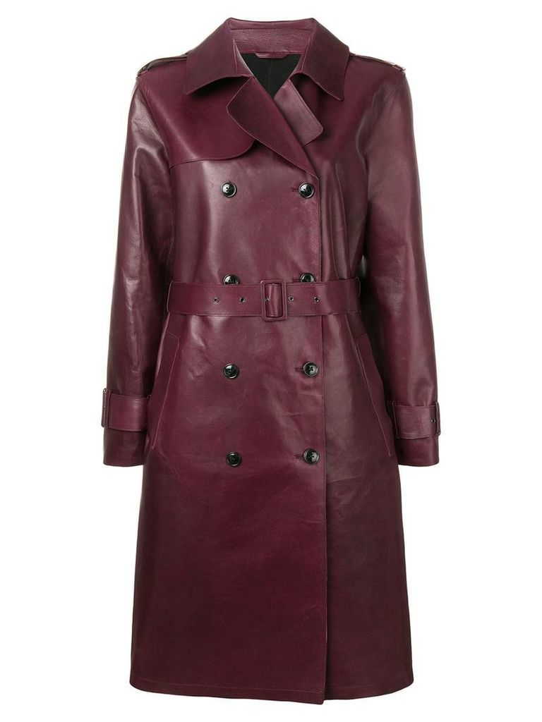 Closed double breasted coat - Red