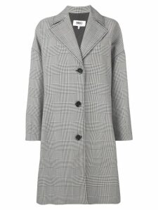 Mm6 Maison Margiela oversized houndstooth coat - White