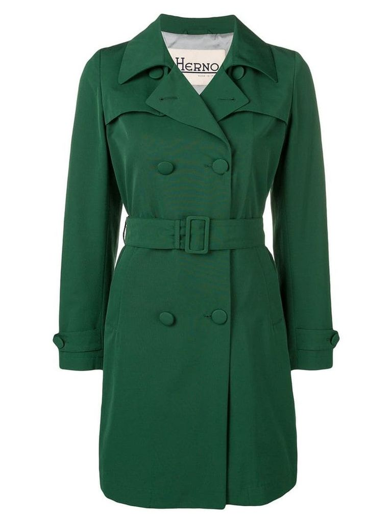 Herno double breasted coat - Green