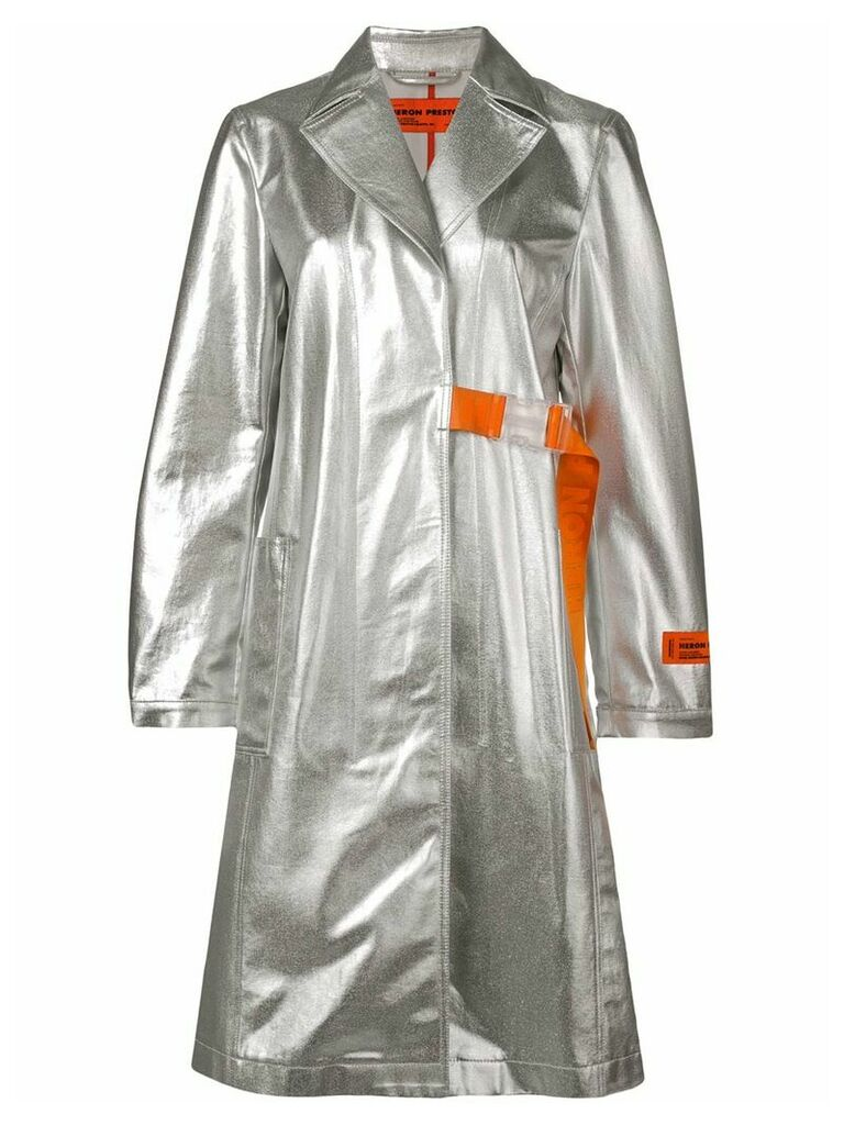 Heron Preston belted fitted coat - Grey