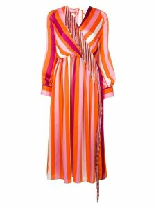 MSGM striped tassel dress - Orange