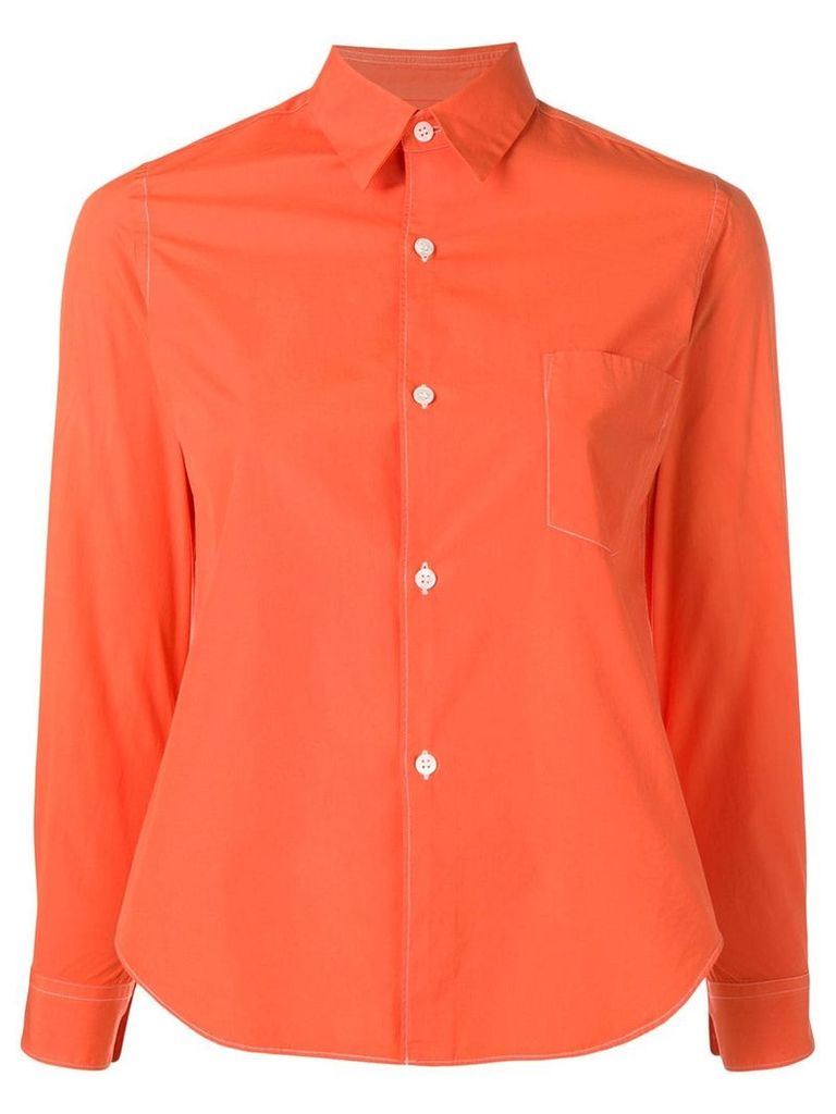 Comme Des Garçons Vintage chest pocket shirt - Orange