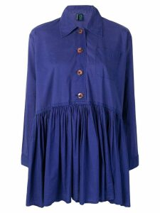 Romeo Gigli Pre-Owned flared pleated dress - Purple