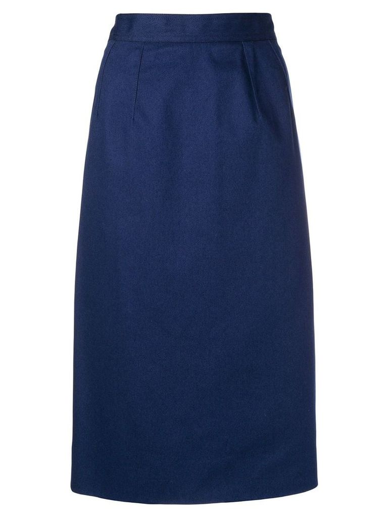 Céline Vintage straight midi skirt - Blue