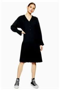 Womens **Pleated Crepe Dress By Boutique - Black, Black