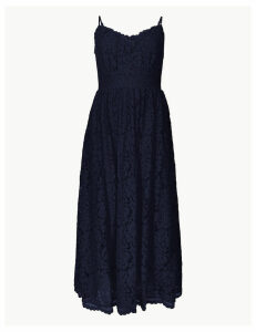 M&S Collection Lace Fit & Flare Midi Dress