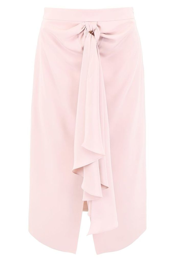 Giorgio Armani Silk Skirt With Ribbon